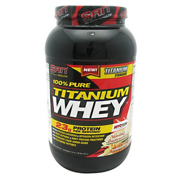 San Nutrition SAN 100% Pure Titanium Whey Supplement, Vanilla/Butterscotch, 2 Pound