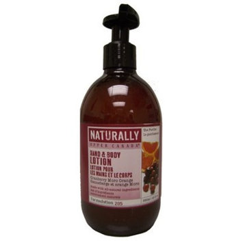 Upper Canada Soap Naturally Nourishing Hand & Body Lotion - Cranberry Moro Orange - 12 oz