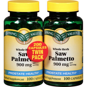 Spring Valley Natural Whole Herb & Saw Palmetto Herbal Supplement Twin Pack 450mg