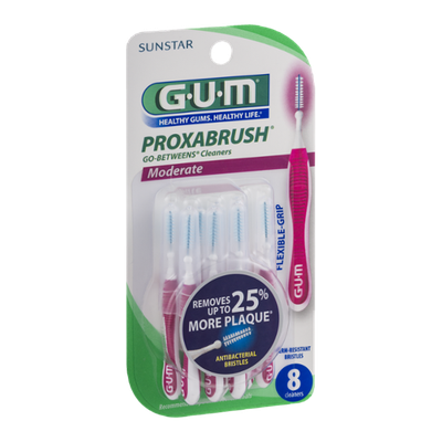 GUM Proxabrush Go-Betweens Cleaners Moderate - 8 CT