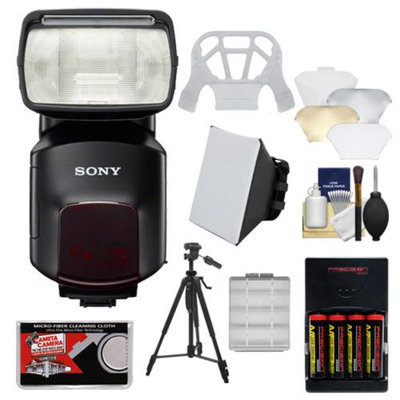 Sony Alpha HVL-F60M Flash with Video Light with Batteries & Charger + Diffusers + Tripod + Kit for A3000, A7, A7R, A99, A58, NEX-6, Cyber-Shot DSC-RX1, RX1R, RX10, RX100 II, HX50V, HX400V Cameras