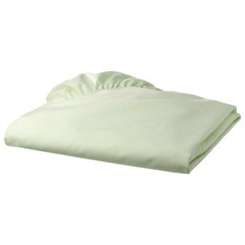 TL Care 100% Cotton Percale Fitted Crib Sheet - Green Star