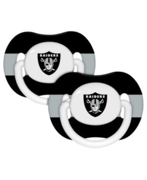 Baby Fanatic NFL 2-Pack Baby Pacifiers - Oakland Raiders