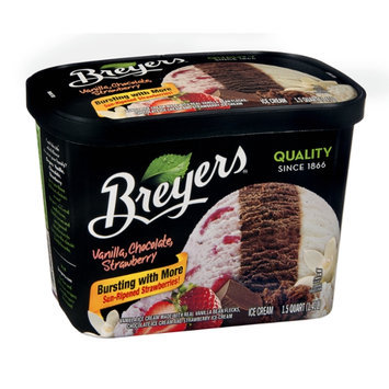 Breyers Vanilla, Chocolate, Strawberry Ice Cream 48 oz