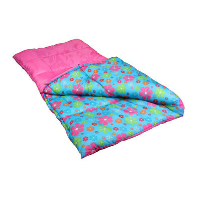Exxcel Outdoor Youth Sleeping Bag Pink Flower - EXXOL OUTDOORS