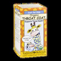 Traditional Medicinals Herbal Tea Bags Just For Kids Organic Throat Coat  - 18 CT