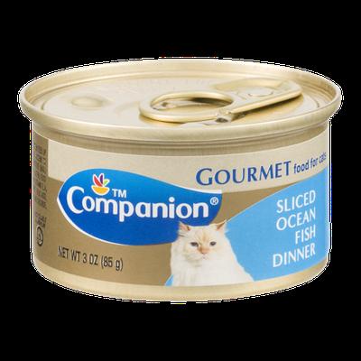 Companion Gourmet Food for Cats Sliced Ocean Fish Dinner 3 OZ