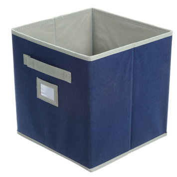 Martha Stewart Living Storage & Organizers 10-1/2 in. x 11 in. Azurite Blue Fabric Drawer 4929