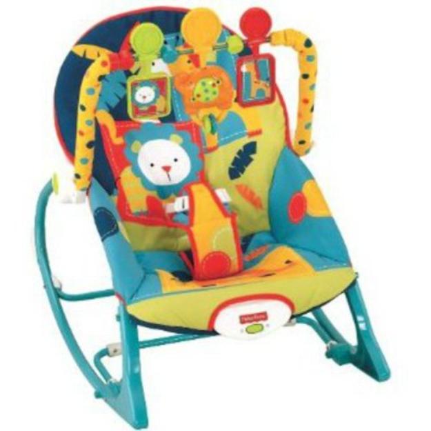 FISHER PRICE Fisher-Price Infant to Toddler Rocker Sleeper, Safari Pattern