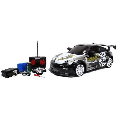 RC Drift Cars 1:18 Scale RTR Remote Control Full Function Porsche 911 GT3 / Turbo / GT2 Drift car with Graffiti (Colors May Vary) and Rechargeable Batteries