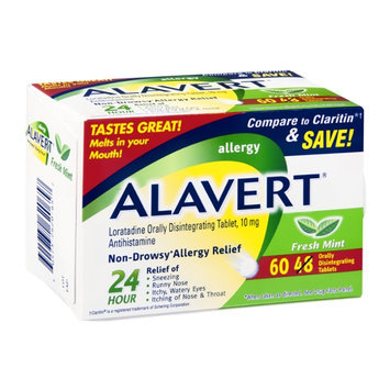 Alavert Non-Drowsy Allergy Relief Fresh Mint Orally Disintegrating Tablets - 10mg