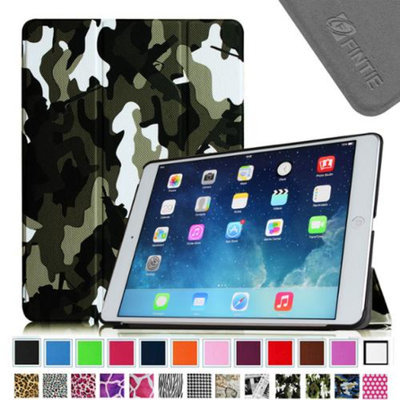 Fintie Smart Shell Leather Case Cover for iPad Mini 2 (2013 Edition) and Mini (2012 Edition), Camouflage Black