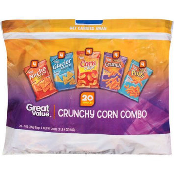 Wal-mart Stores, Inc. Great Value Crunchy Corn Combo Corn Chips, 1 oz, 20 count
