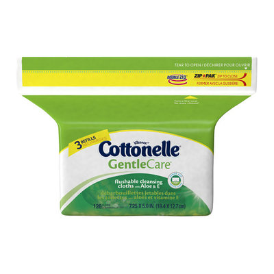 Cottonelle Gentle Care Flushable Cleansing Cloths with Aloe & E Refills