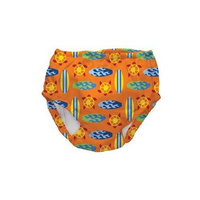 Water Wear Swim Diaper Cover in Orange Geo Surfboards Size: L/XL (12/24 Mo)