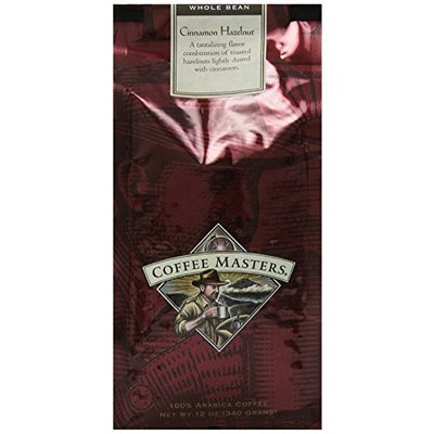 Coffee Masters Flavored Coffee, Cinnamon Hazlenut, Whole Bean, 12-Ounce Bags (Pack of 4)