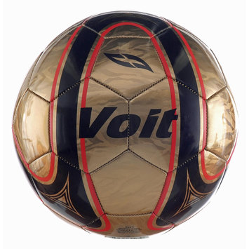 Voit Fenix Official Size 5 Soccer Ball Gold/Black Graphic