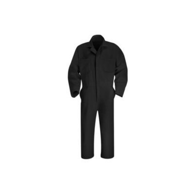 Red Kap 56 Men's Black Long Sleeve Coveralls CT10BK RG 56