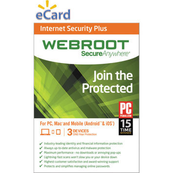 Webroot SecureAnywhere Internet Security Plus 3U $39.98 (Email Delivery)