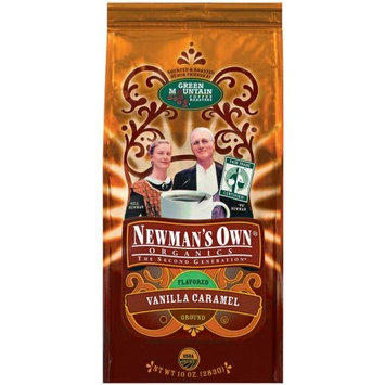 Newman's Own man's Own Organic Vanilla Caramel Ground Coffee, 10-Ounce Bags (Pack of 3)