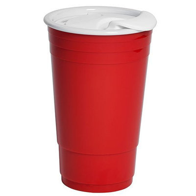 Tabletops Unlimited, Inc 30 oz Red Tumbler with White Lid