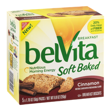 Nabisco belVita Breakfast Biscuits Soft Baked Cinnamon