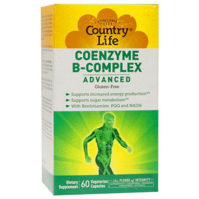 Country Life Coenzyme B-Complex Advanced, Gluten-Free, Veggie Capsules
