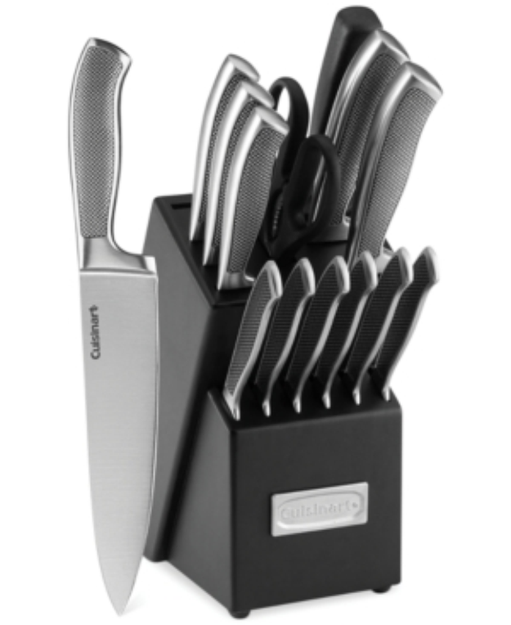 Cuisinart Classic Stainless Steel Hollow Handle 15-Piece Cutlery Set