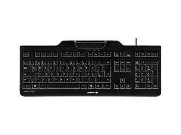 Cherry Kc 1000 Sc Keyboard - Cable Connectivity - White Box - USB Interface - 104 Key - English [us] - Qwertz Keys Layout - Mechanical - Black (jk-a0100eu-2)