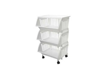 Home Products Homz Three Tier Mobile Cart