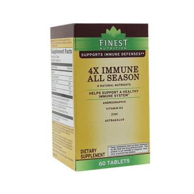 Finest Nutrition Immune 4x, Tablets, 60 ea
