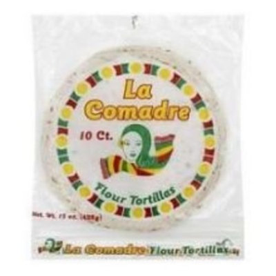 La Comadre Flour Tortilla, 10 Ounce -- 12 per case.