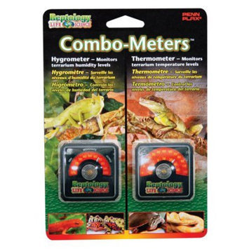 Penn Plax Reptology Combo-Meters Hygrometer and Thermometer Pack