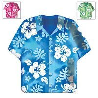 BuySeasons Bahama Breeze Shirt-Shaped Dinner Plates Assorted