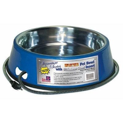 Farm Innovators 5-1/2-Quart Heated Pet Bowl with Stainless Steel Bowl Insert - Blue Model SB-60, 60-Watt