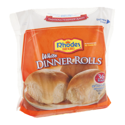 Rhodes Dinner Rolls White - 36 CT