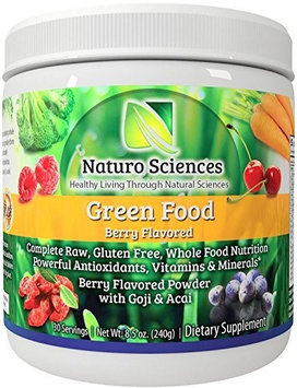 Natural Greens Food By Naturo Sciences - Complete Raw Whole Green Food Nutrition with Super Powerful