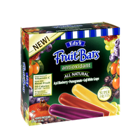Edy's All Natural Antioxidant Acai Bluebbery, Pomegranate & Goji White Grape Fruit Bars - 12 PK