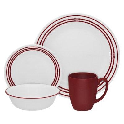 Corelle Livingware 16 piece Dinnerware Set - Ruby Red