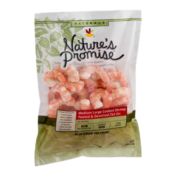 Nature's Promise Naturals Medium Large Cooked Shrimp Peeled & Deveined, Tail On
