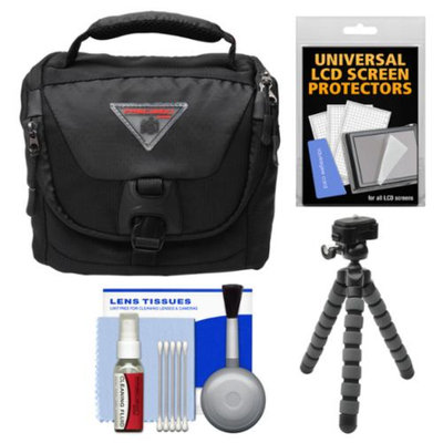 Precision Design PD-C25 Camera / Camcorder Case with Rain Cover & Flex Tripod + Accessory Kit
