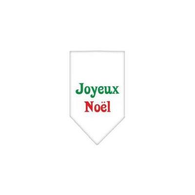 Ahi Joyeux Noel Screen Print Bandana White Small