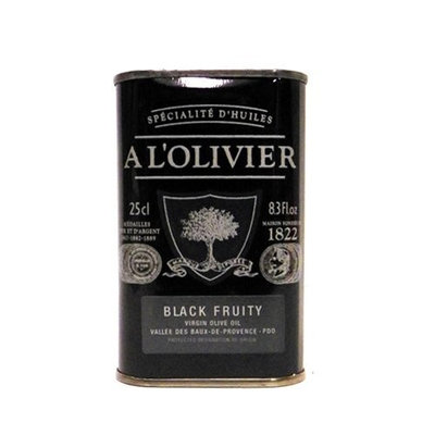 A L'Olivier Black Fruity Virgin Olive Oil 8.45 oz
