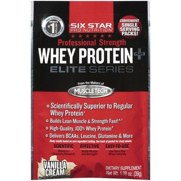 Six Star Pro Nutrition Vanilla Cream Elite Series Professional Strength Whey Protein Plus, 1.38 oz