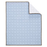 Bacati Quilted Baby Quilt - Blue/Chocolate
