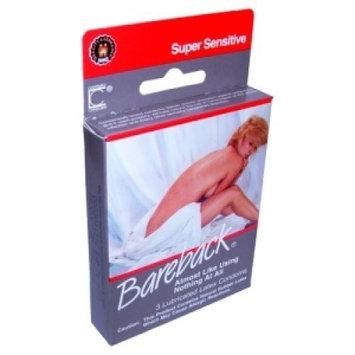 Contempo Bareback Super Sensitive, 3 Latex Condoms (Pack of 6)
