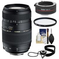 Tamron 70-300mm Di LD Macro Zoom Lens with Hood (= 140-600mm) + UV Filter + Accessory Kit for Canon EOS 6D, 70D, Rebel T3, T3i, T4i, T5, T5i, SL1 Digital SLR Cameras