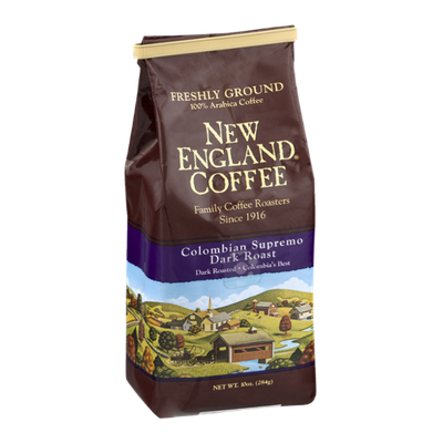 New England Coffee Colombian Supremo Dark Roast Freshly Ground
