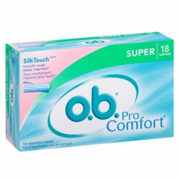 o.b. Pro Comfort Tampons, Super, 18 ea