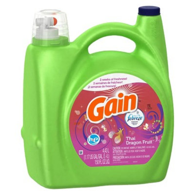 Gain Febreze Thai Dragon Fruit Scent HE Liquid Laundry Detergent 150